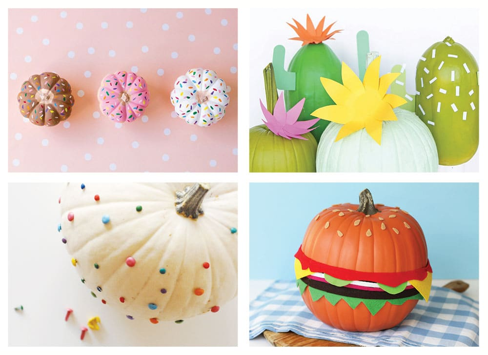 Our favorite fun and modern no-carve pumpkins for kids