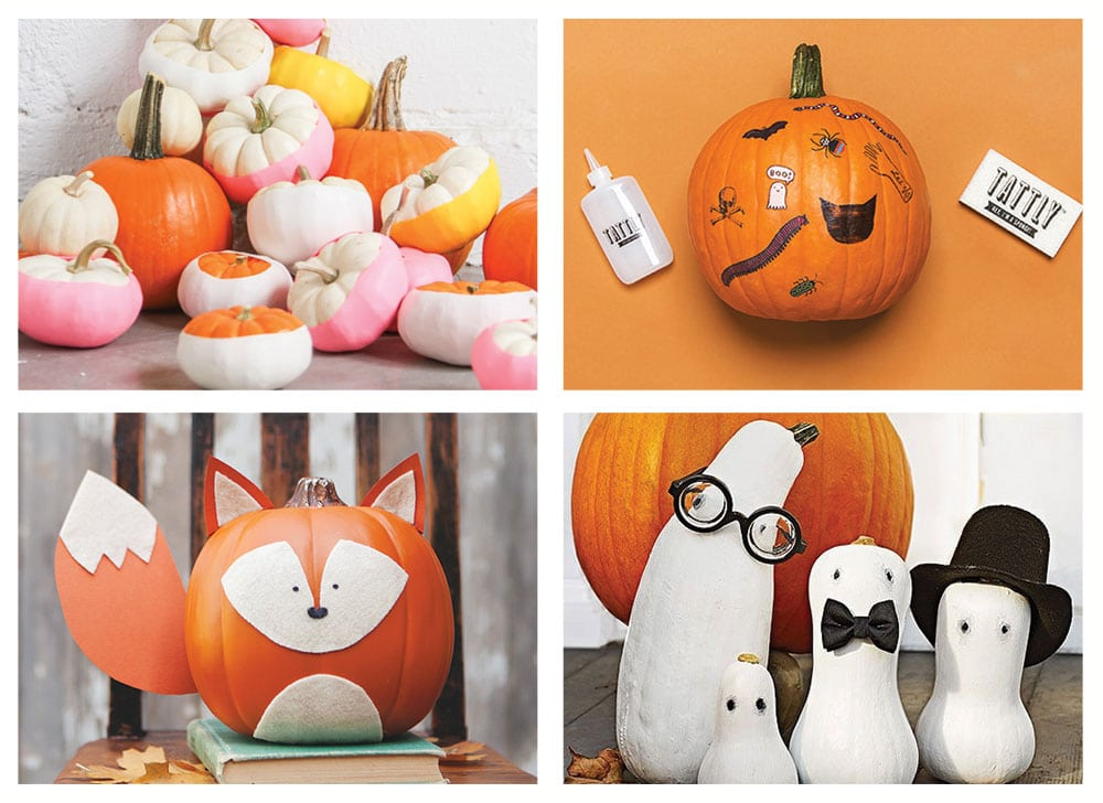Our favorite fun and modern no-carve pumpkins for modern kids