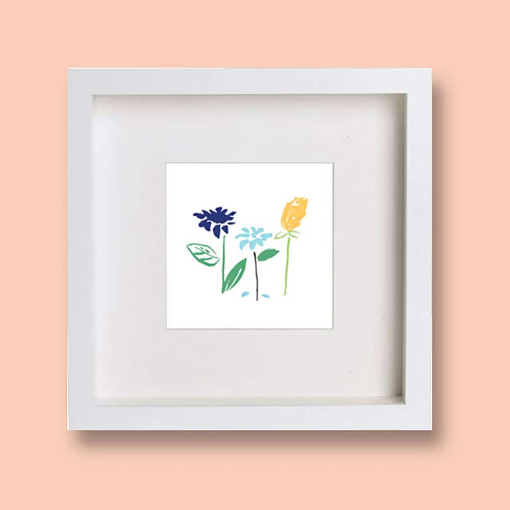 Our free printable kids mini spring art print