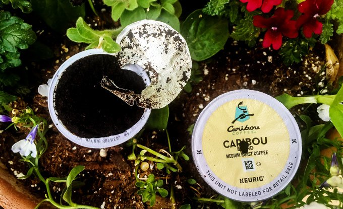 Recycle K-Cups in the Garden | eco-friendly ideas via barley & birch