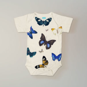 butterfly short sleeve onesie via barley & birch