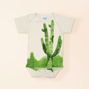 cactus short sleeve onesie via barley & birch