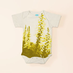 gladiolus short sleeve onesie via barley & birch