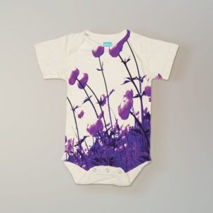 poppies short sleeve onesie via barley & birch
