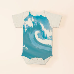 wave short sleeve onesie via barley & birch