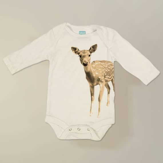 barley & birch brown bear long sleeve organic cotton onesie | 100% Eco-Friendly, Sweatshop Free and made in the USA.