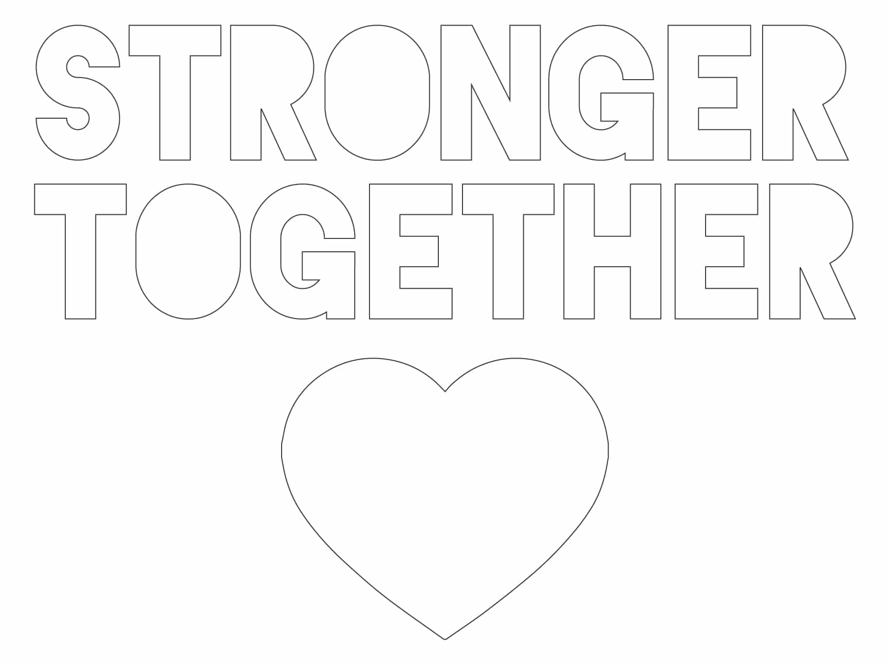 Stronger Together Chalk Paint Template