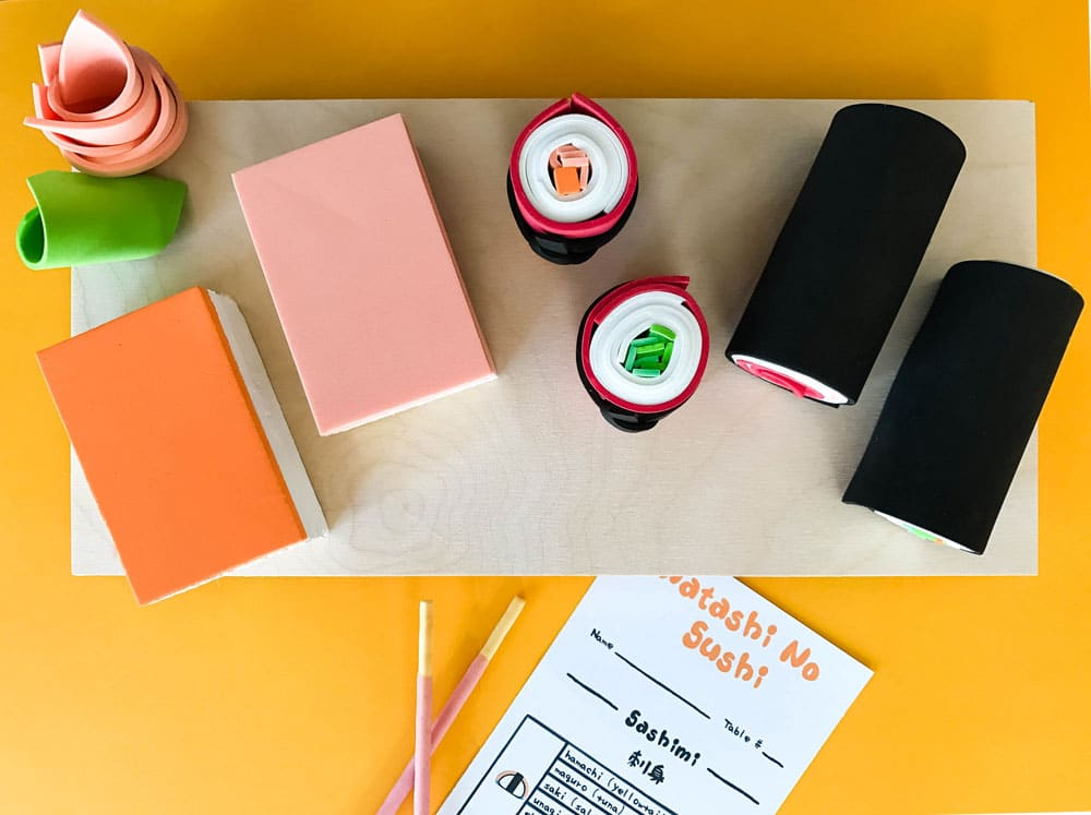 Make an easy DIY sushi play set complete with a printable order menu! | via barley & birch