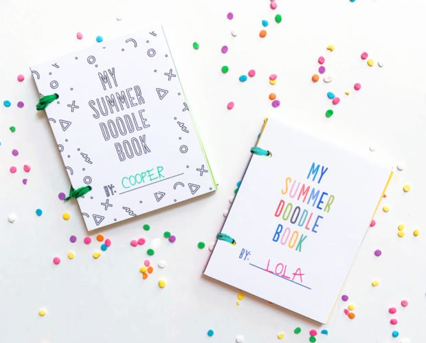 These adorable free mini doodle books are a perfect summer surprise for kids!