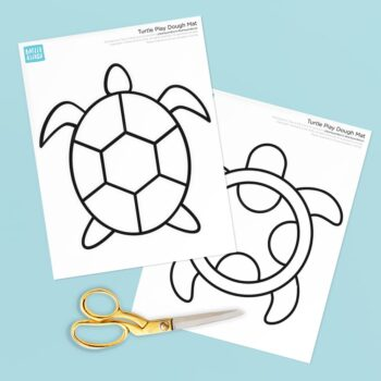 Turtle Printable Play Dough Mats Preview