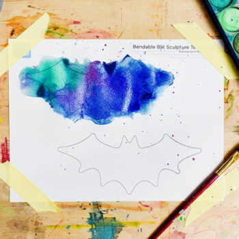 Add color to your bat templates with watercolors