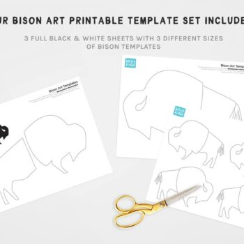Bison Art Printable Template Set Preview