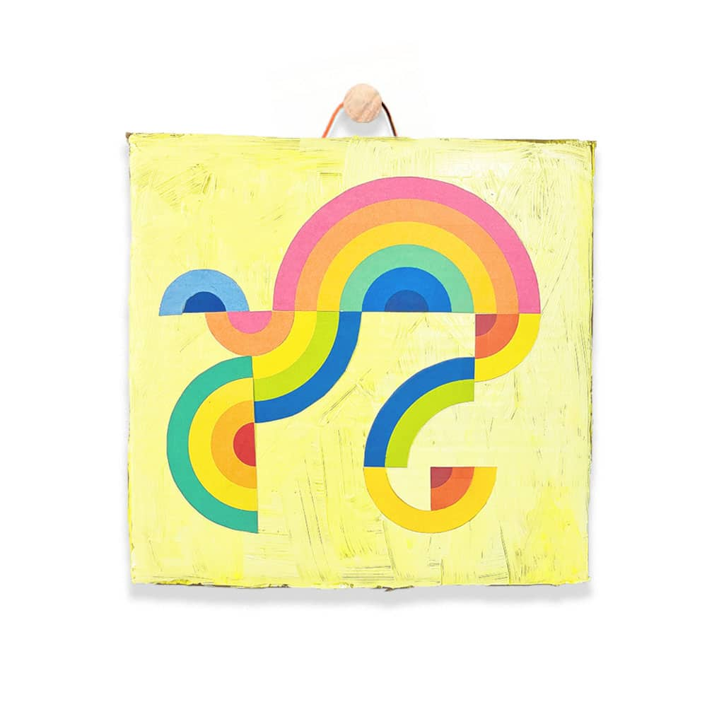 Kids will love cutting apart rainbows to make this beautiful abstract art project that can also be used to celebrate small joys throughout the week! | via barley & birch